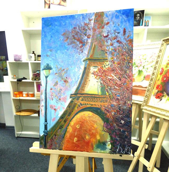 готовая картина на мастер классе