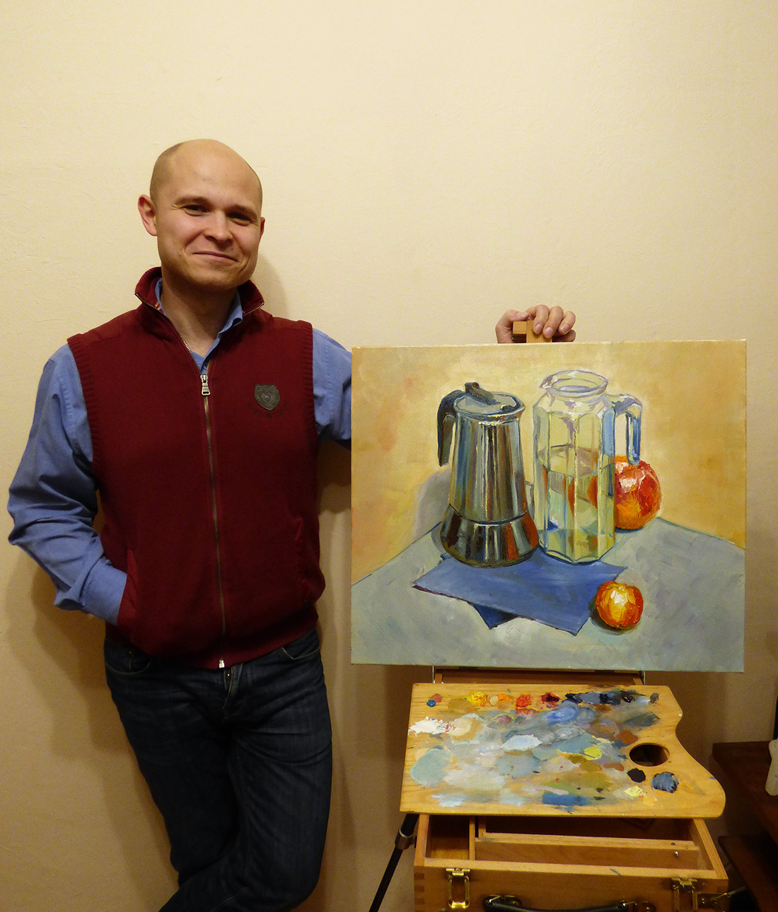 натюрморт на мастер классе с художником