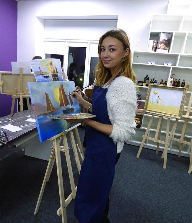 рисование масляными красками Киев