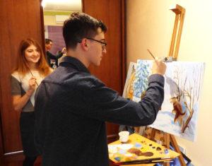 рисование на мастер классе с украинским художником