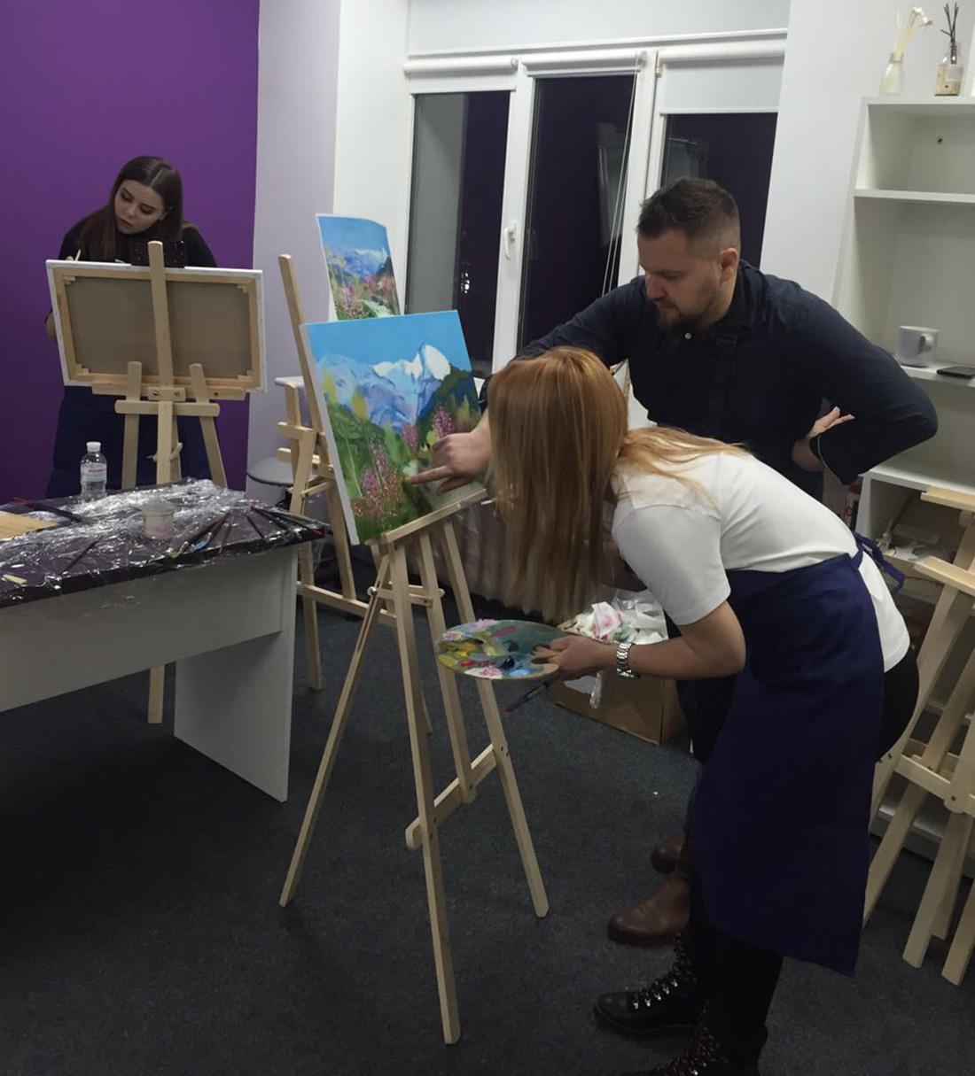 как рисовать маслом с художником
