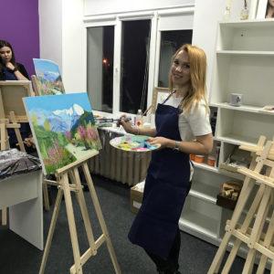 рисование с художником на мастер классе