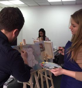 художественный мастер-класс маслом в Киеве