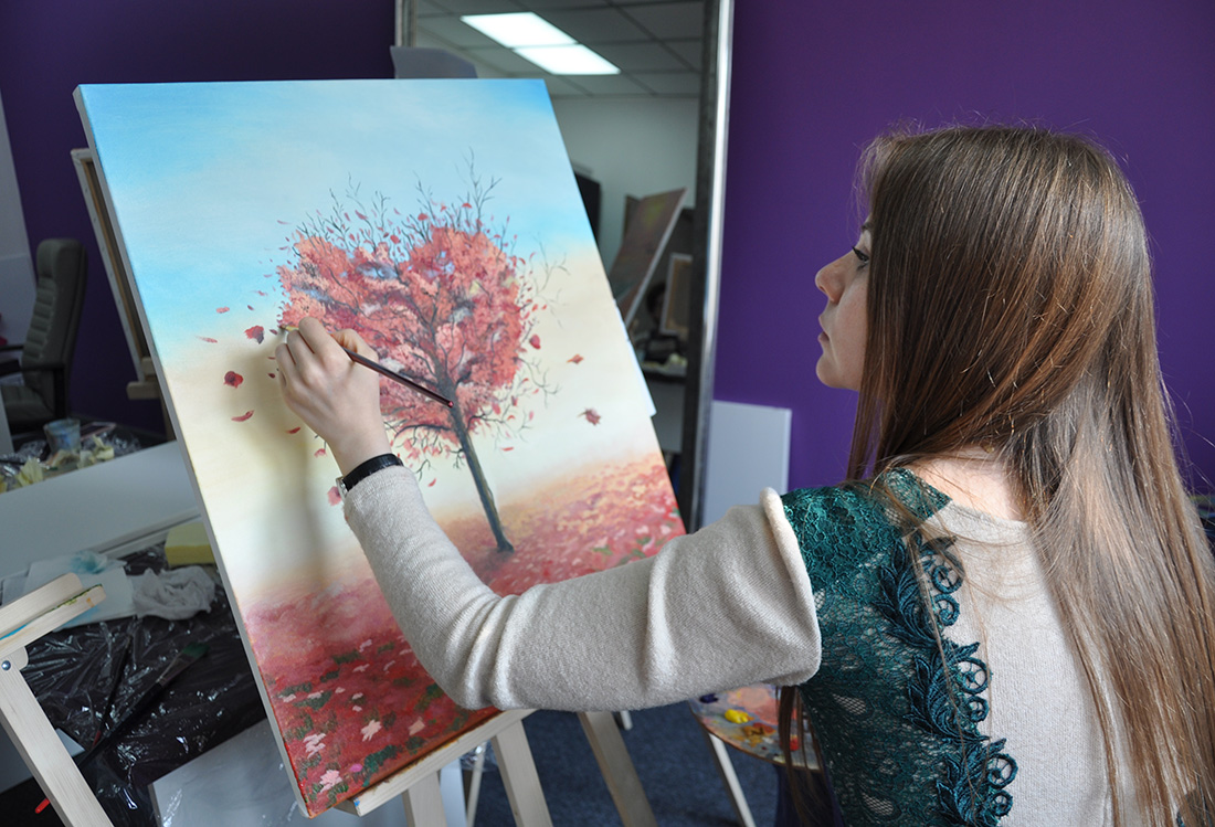 Картина маслом на художественном мастер-классе