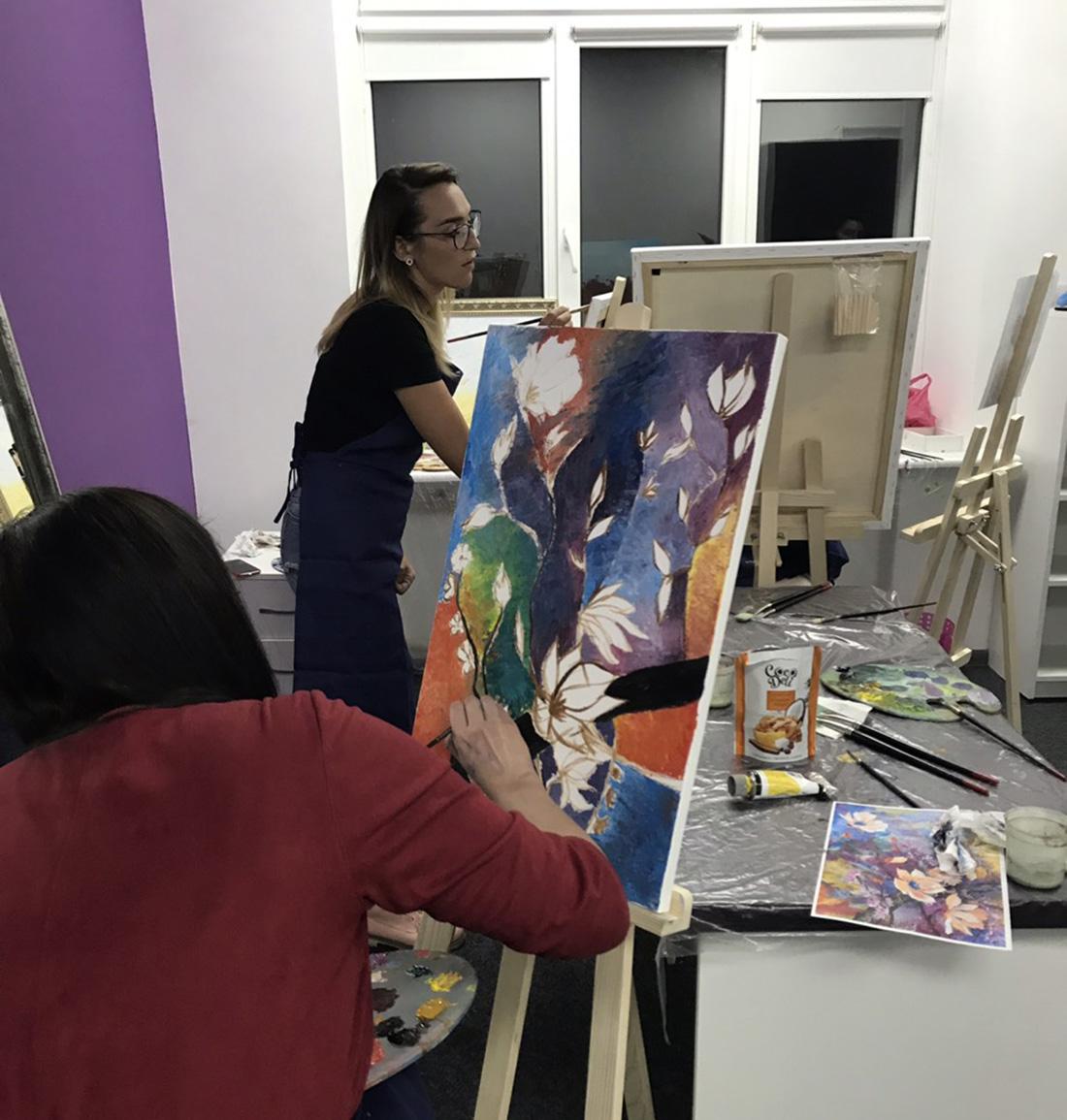 картины с художником на мастер классе
