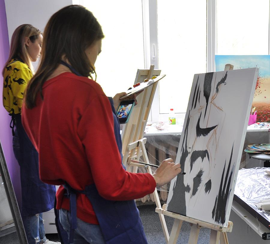 Как рисовать маслом на курсах в Киеве