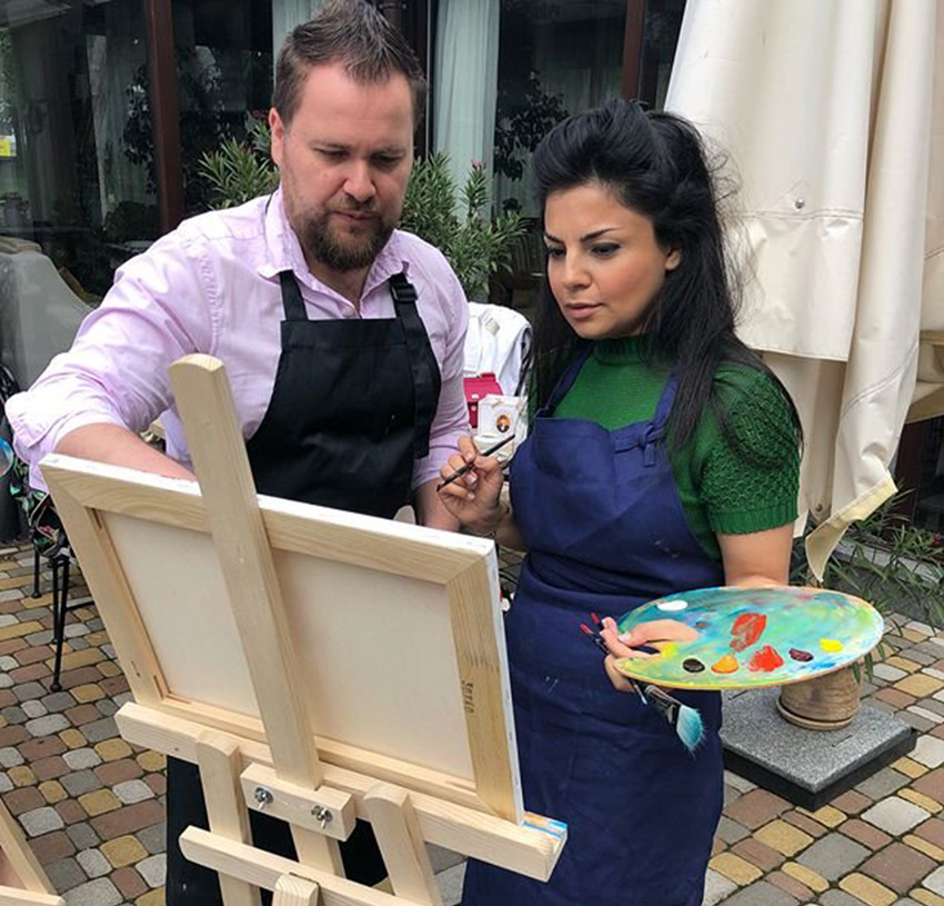 как рисовать маслом на уроках художника