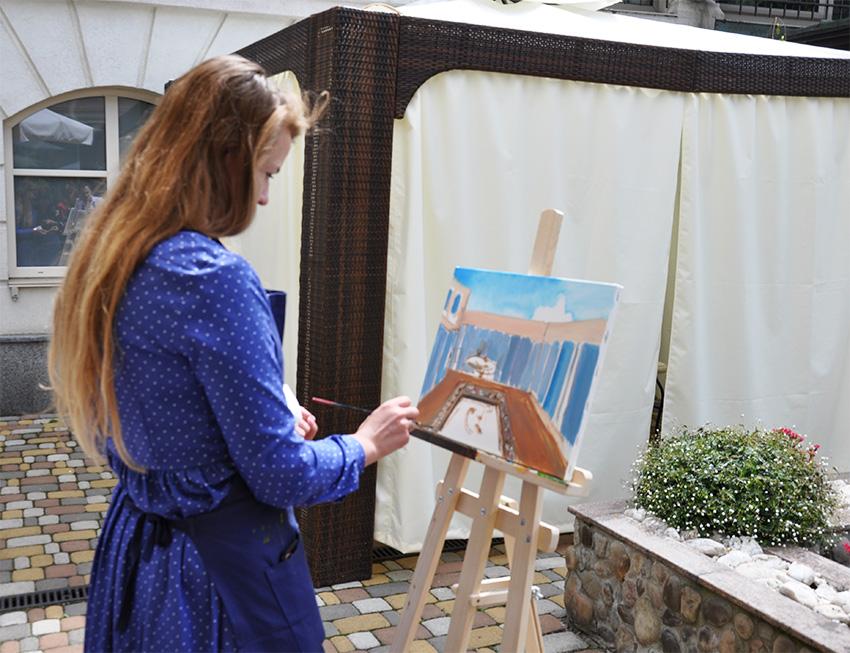 рисовать маслом с художником