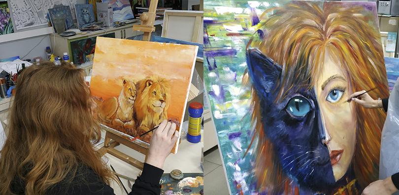 Мастер-класс маслом рисуем львов и фантастические сюжеты