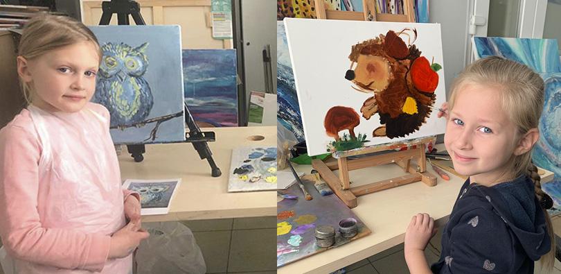 Уроки рисования маслом для детей 03.03