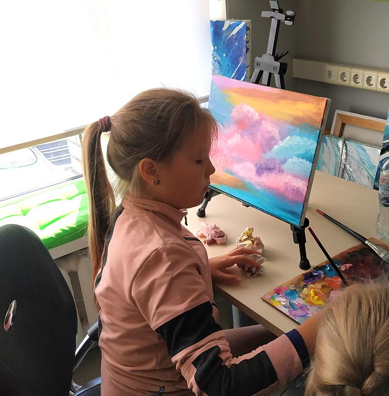 дети рисуют маслом уроки