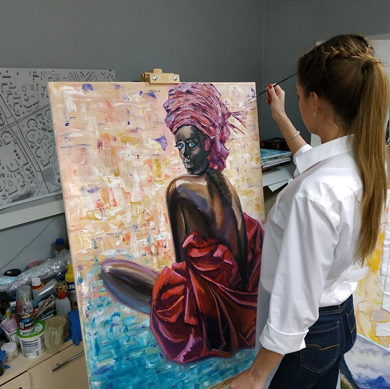 мастер-класс как рисовать большой портрет