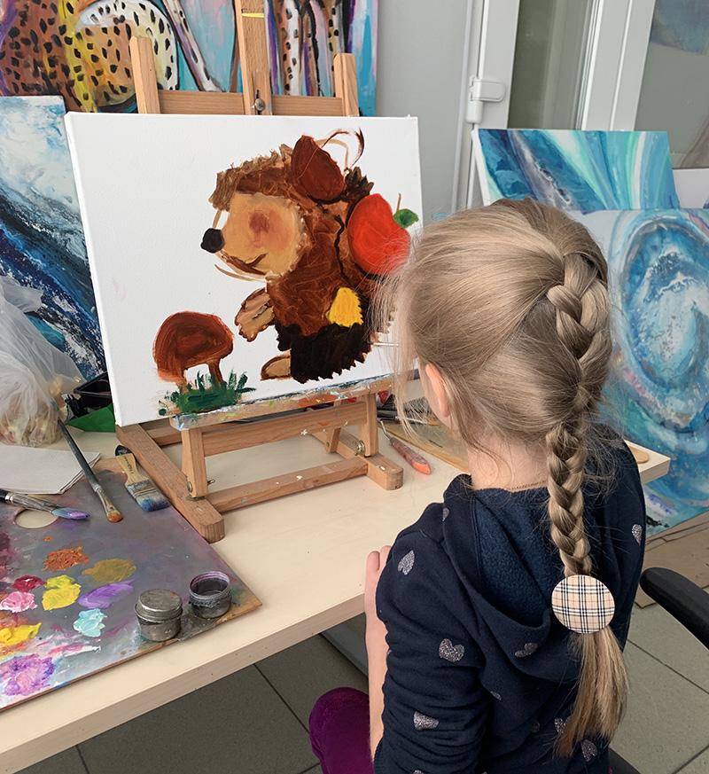 рисование с детьми маслом