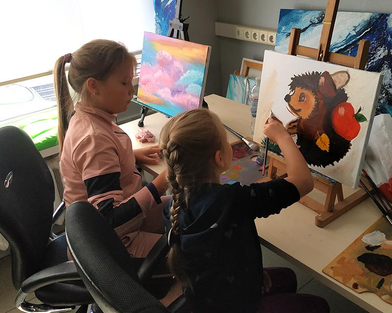 уроки рисования маслом на холсте для детей