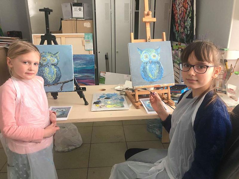 уроки рисования маслом для детей