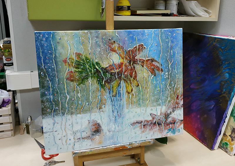 уроки рисования художника дождь маслом